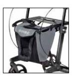 Rollator Tasche Gemino 30 grau-schwarz sunrise medical