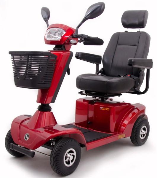 Sterling S400 Elektromobil Seniorenmobil Elektroscooter 6 km/h in Farbe Rot