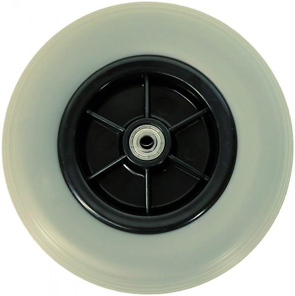 Rollator Ersatz-Rad aus Vollgummi in Farbe Grau, Größe 185 x 43 mm