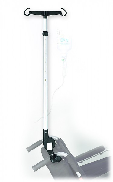 Infusionshalter für Rollstuhl Pflegerollstuhl in stabiler Ausführung
