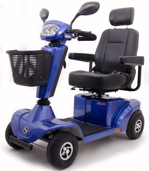 Sterling S400 Elektromobil Seniorenmobil Elektroscooter 6 km/h in Farbe Blau