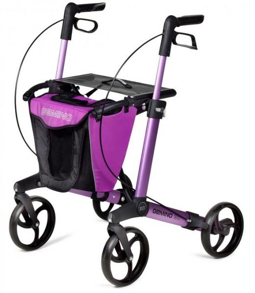 Rollator Tasche Gemino 30 pink-schwarz sunrise medical