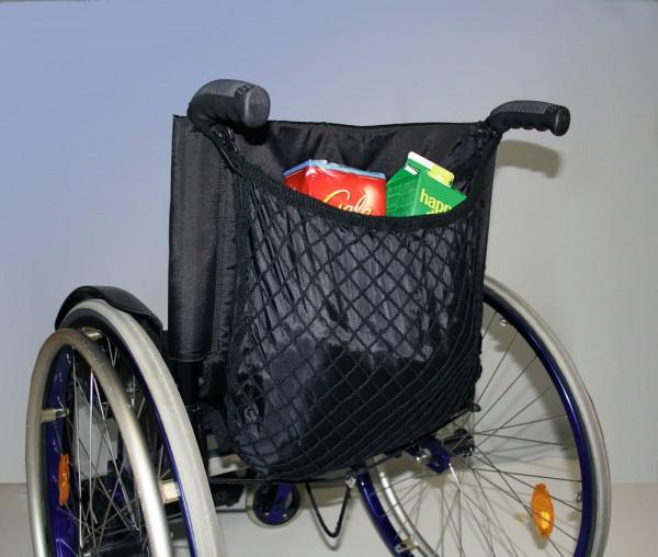 Rollstuhlnetz mit Innentasche, Farbe Schwarz, Rollstuhl Zubehör